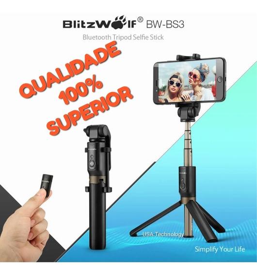 Super Pau De Selfie Blitzwolf Bluetooth Bastão Android/ios