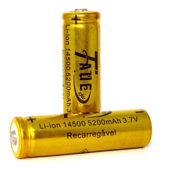 Baterias Recarregável Li-ion 14500mah 3.7v 5200mah Taue