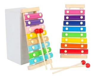 Xilofono Infantil Madera Didactico 8 Notas Montessori