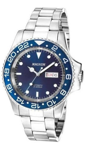 Relógio Magnum Masculino Automático Ma33844f *21jewels