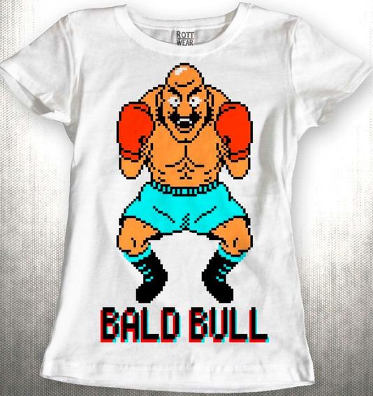 Punch Out Bald Bull Nintendo Blusa Dama Rott Wear