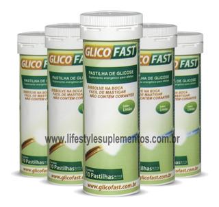 Kit 5 Tubos Glicofast 10 Pastilhas Por Tubo - Naturalis