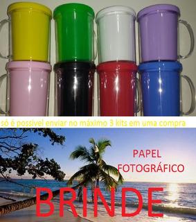 50 Caneca Rosqueável Para Personalizar Brinde Papel Foto