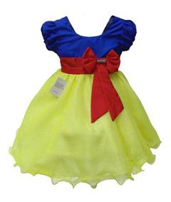Vestido Infantil Branca De Neve Festa Luxo Encantada