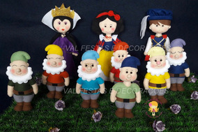 Branca De Neve , Madrasta, Príncipe E Os Sete Anões Feltro