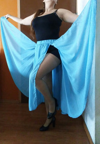 Falda Danza Árabe Turquesa Bellydance Unitalla Amplia