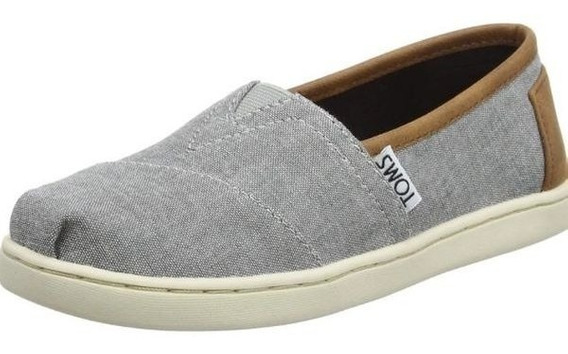 **toms Youth Classic Frost Grey Chambray Numero 4 Usa 23 Me
