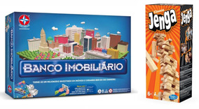 Brinquedos Meninas Banco Imobiliário Estrela + Jenga Hasbro