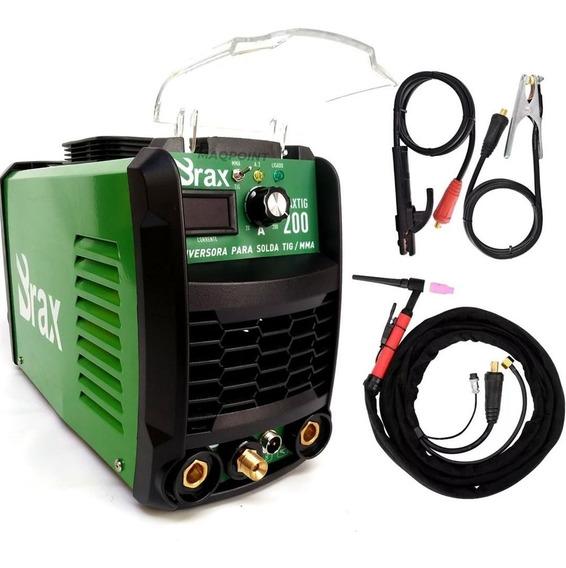 Inversora De Solda Tig Com Tocha 200 Amp Bivolt Max 200 Brax