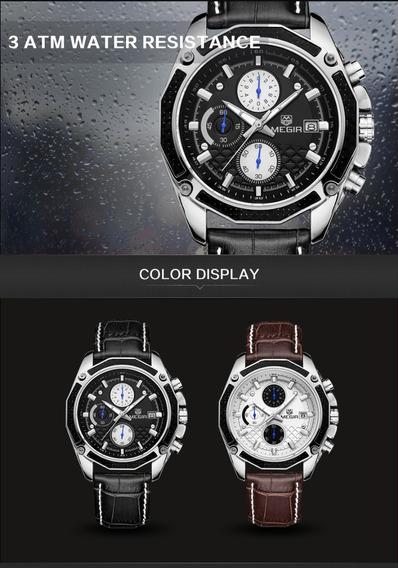 Relógio De Luxo Megir Barato Limpa Estoque + Brinde Surpresa