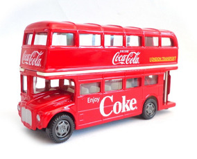 Onibus Ingles Routemaster London Double Deker Coca-cola 1:64