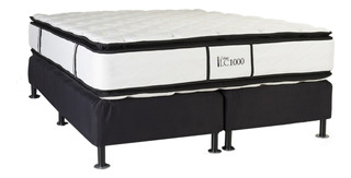 Sommier La Cardeuse LC 1000 King 200x200cm negro y blanco