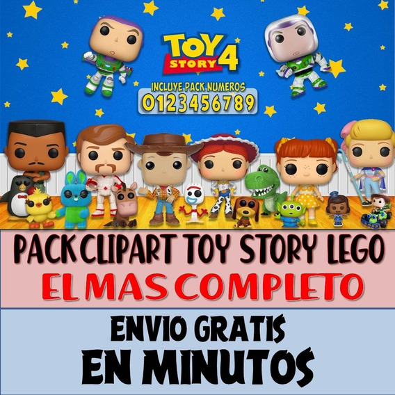 Pack Imágenes Clipart Toy Story 4 Lego Woody Forky + Regalo