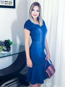 Vestido Jeans Longuete Sereia
