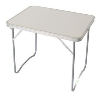 Mesa Plegable Portatil Camping Table Mate 50cm X 70cm Blanco