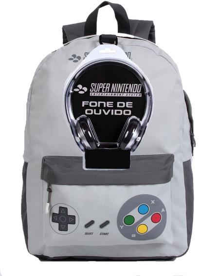 Mochila G Nintendo Joystick 11546 Com Fone De Ouvido Dmw