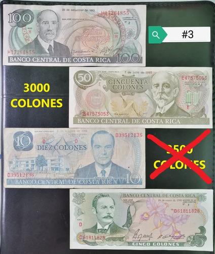 Set #3 Billetes Antiguos Costa Rica