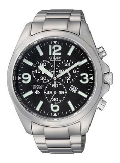 Reloj Citizen Eco Drive Titanium Sumergible At066064e Hombre