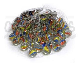 Bolitas / Canicas Cristal Con Pétalos × 100 Unidades