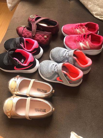 Lote Menina (6) Tênis E Sapatos Originais