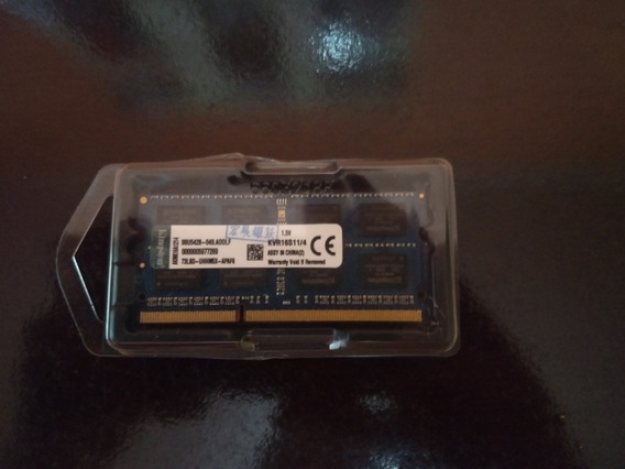 Memória Ram Ddr3 De 4 Gb, 1600mhz, Para Notebook. Kingston.