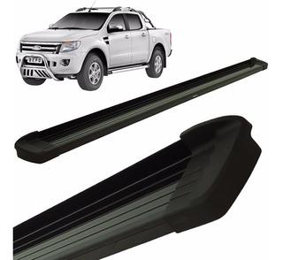 Estribos Aluminio Negro G3 Bepo Para Ford Ranger 2013 A 2019