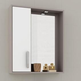Espelheira Banheiro Balcony Gold - Branco Supremo/connect
