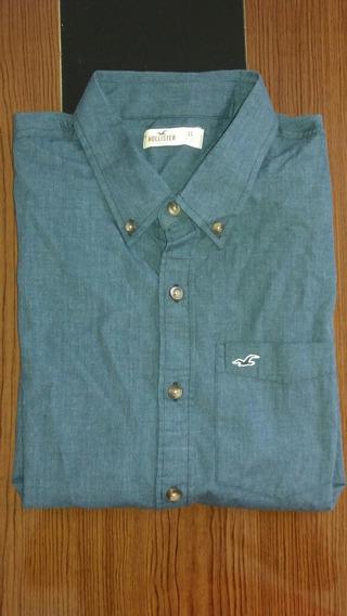 Camisa Social Hollister Xg - Original