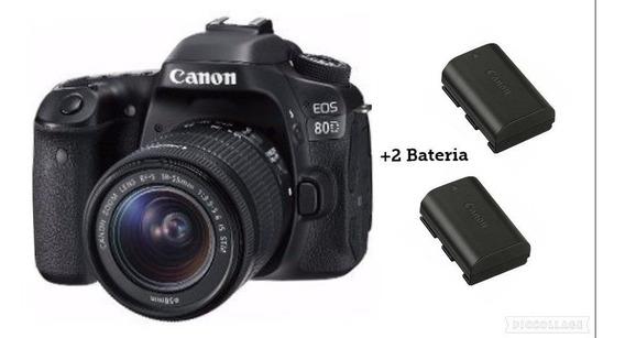 Câmera Canon Eos 80d C/ Lente18-55mm+ Baterias