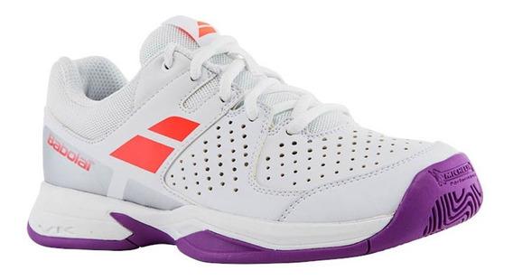 Zapatos De Jugar Tenis Niña Babolat Pulsion All Court Blanco