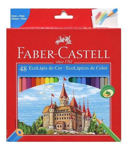 Lápis De Cor Ecolápis Ponta Max Faber Castell 48 Cores
