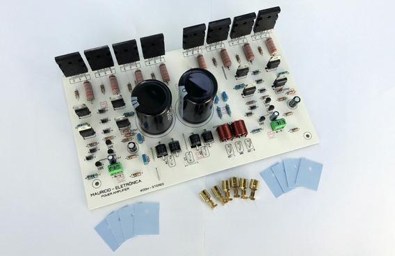 Placa Amplificador 400w Estéreo C/ Fonte Embutida. Potencia