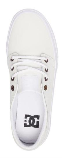 Tênis Dc Shoes Couro 35 - 23cm Creme Novo - Original