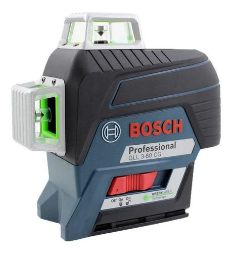 Imagem 1 de 7 de Nivel Laser Gll3-80cg Verde + Receptor Lr7 Bosch 0601063t01