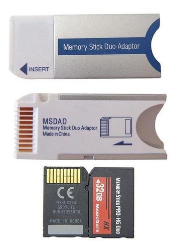 Tarjeta Memoria Memory Stick Pro Duo Adaptador Para Sony Cam
