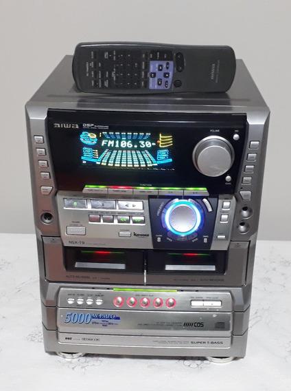 Mini System Aiwa Nsx T9 Só O Aparelho - Leia A Descrição