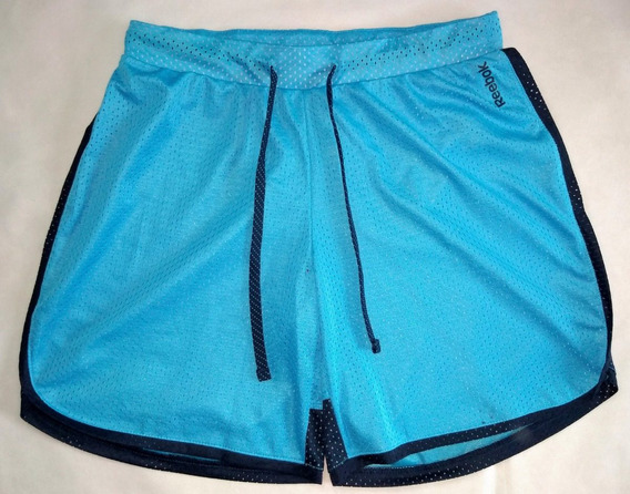 Bermuda Short Reebok De Niña Talle Xs Color Celeste