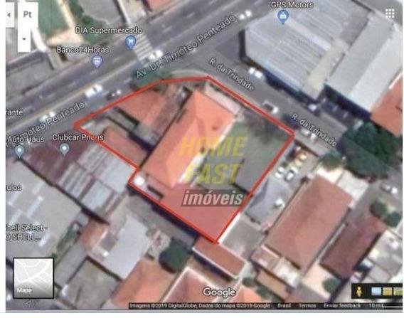 Terreno Comercial 1000m2 Av Timóteo Penteado Guarulhos - Te0143