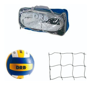 Kit De Red + Balon Voleibol Volibol Voley Vacaciones Playa