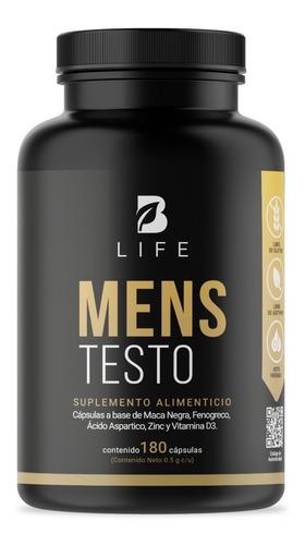 Imagen 1 de 7 de Testosterona Hombre 180 Cápsulas Maca Negra Fenogreco B Life