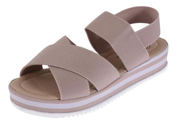 Sandalia Anabela Feminina Tratorada Sapato Plataforma Moda