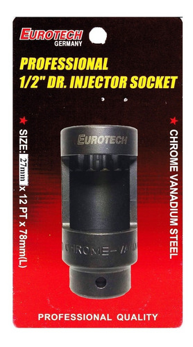Imagen 1 de 6 de Dado Saca Inyectores 27mm - Electroimporta