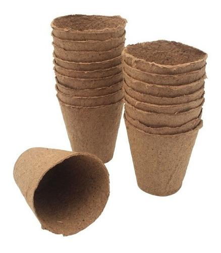 Imagen 1 de 7 de 100 Macetas Biodegradables Redonda Chica 6 X 6 Cm