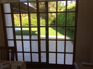 Puerta Balcon De Madera Cedro Vidrio Repartido