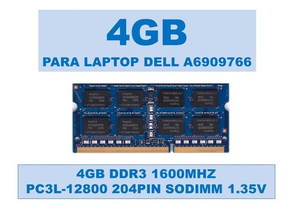 Memoria A6909766 4gb Ddr3 1600mhz Para Portátiles Dell 1.35v