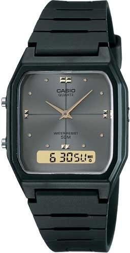 Relógio Casio Masculino Vintage Aw-48he-8avdf *dual-time