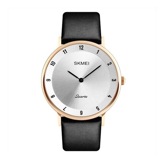 Relógio Analogico Social Feminino Skmei 1263 Dourado
