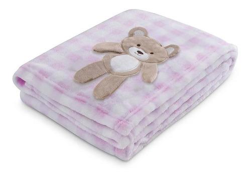 Manta Soft Bichinhos Bebê Infantil Cobertor Antialérgico