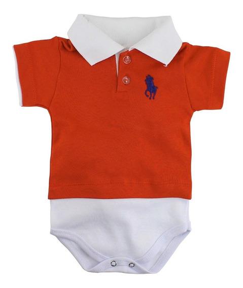 Body Para Bebê Camisa Polo Manga Curta Várias Cores