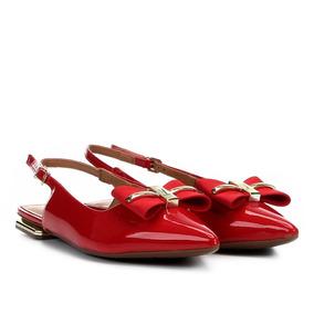 217f61e12e Sapato Vizzano Vermelho Com Laco Feminino - Sapatos no Mercado Livre ...